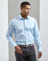Men´s Stretch Fit Poplin Long Sleeve Cotton Shirt